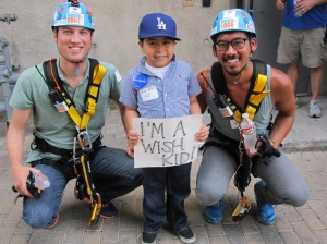 wish kid with rappellers